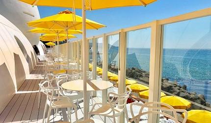 日本兵庫淡路島大型「HELLO KITTY SMILE」海景主題餐廳外觀照