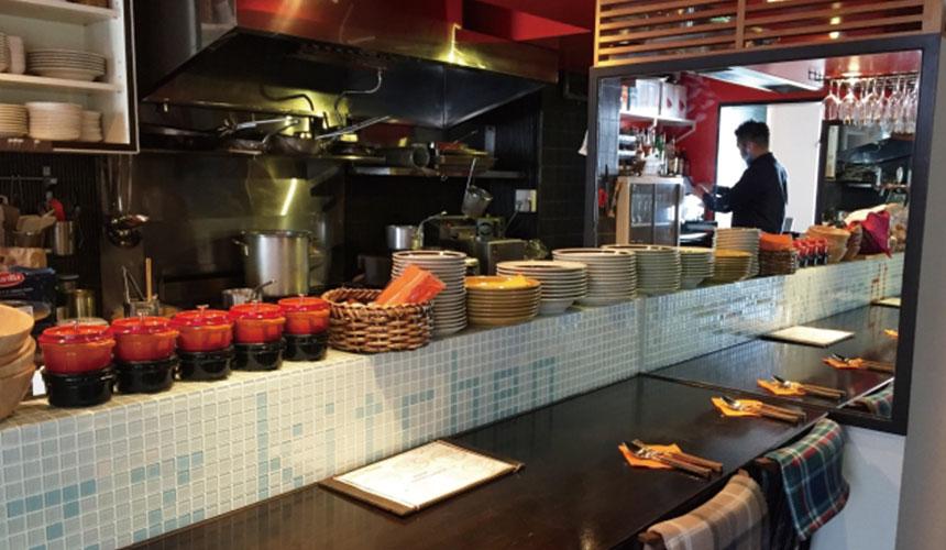 日本餐厅的店内环境