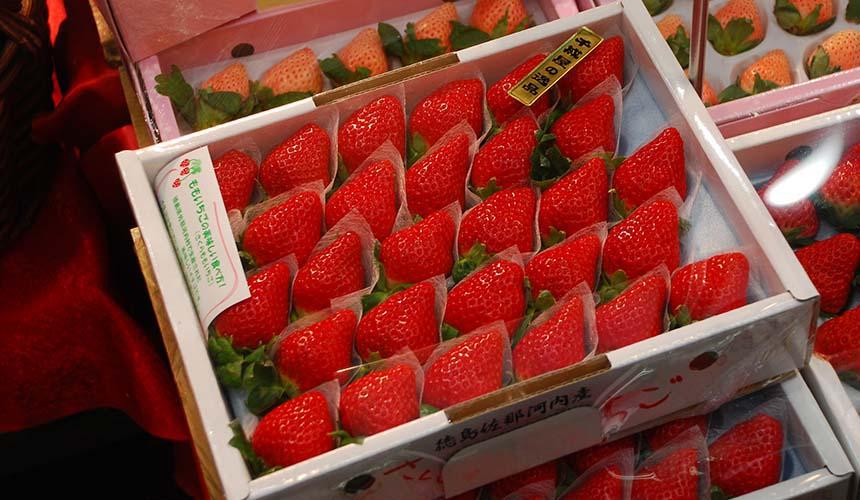 「なべじ」的新鮮草莓