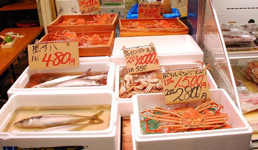 大阪日本橋黑門市場新鮮海鮮