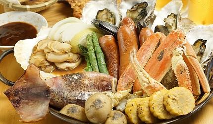 大阪難波海鮮大餐店家推薦「知床漁場 道頓堀店」的3號套餐