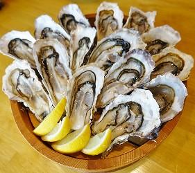 大阪難波海鮮大餐店家推薦「知床漁場 道頓堀店」的1號套餐的鮮甜生蠔