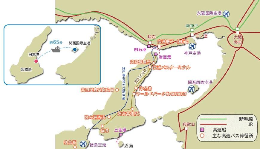 淡路島觀光地圖