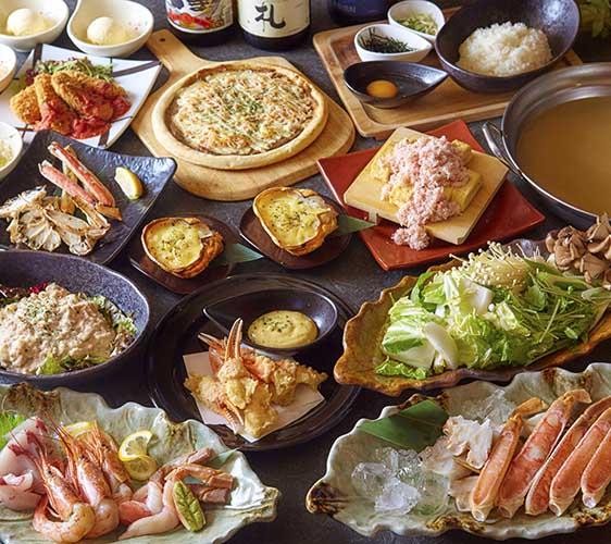 大阪道頓堀「蟹櫻」的創意西洋和食螃蟹套餐