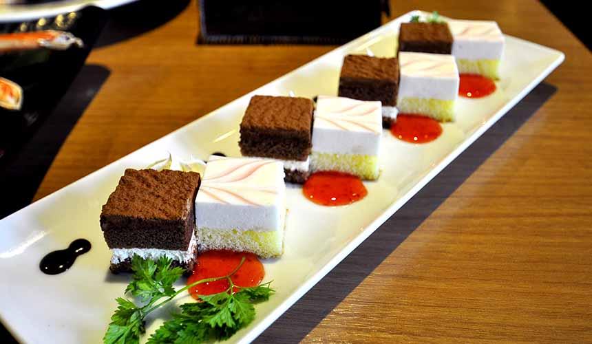 大阪道頓堀「蟹櫻」的一口甜點(一口デザート)