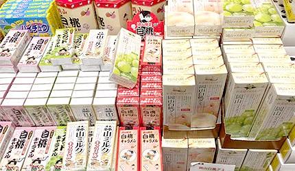 日本名产冈山白桃葡萄饼干糖果