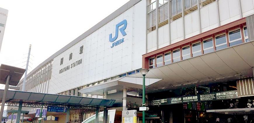 JR岡山站一樓外觀