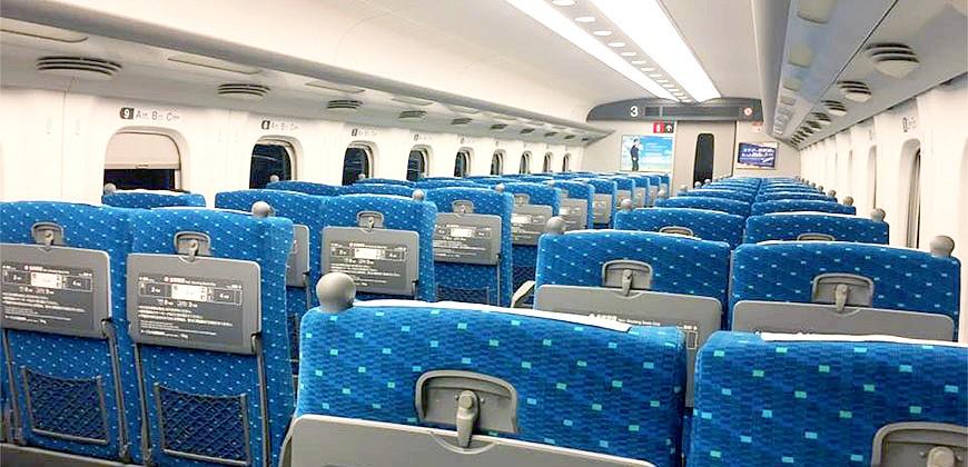 新幹線車廂內部示意圖