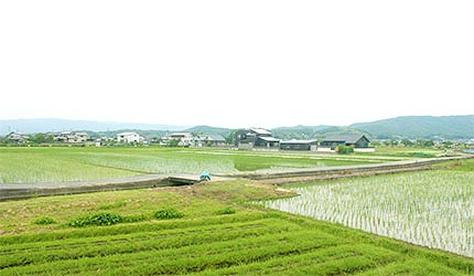 日本岡山最上稻荷沿途風景示意圖