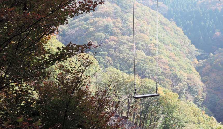 妙见森林的「山上的秋千」
