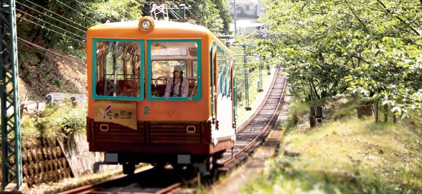 距離大阪梅田30分鐘!搭乘「能勢電鐵」到北極星聖地能勢妙見山賞櫻賞楓去