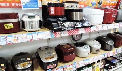 大阪道頓堀愛電王的電飯鍋選擇眾多