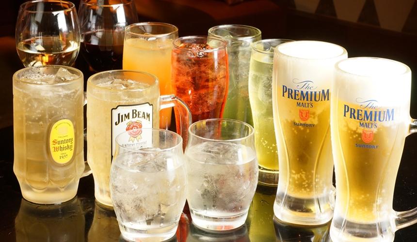 大阪心齋橋的超值居酒屋「きんいち花鳥風月」的酒類喝到飽