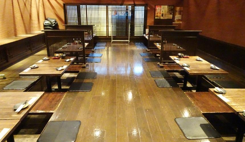 大阪心齋橋的超值居酒屋「きんいち花鳥風月」的店內環境