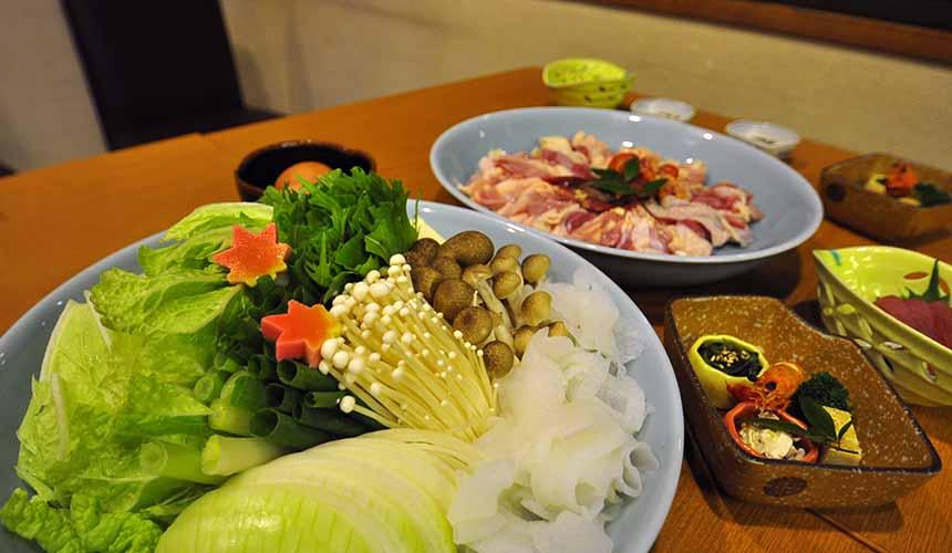 京都美山町自然文化村「河鹿莊」的和食