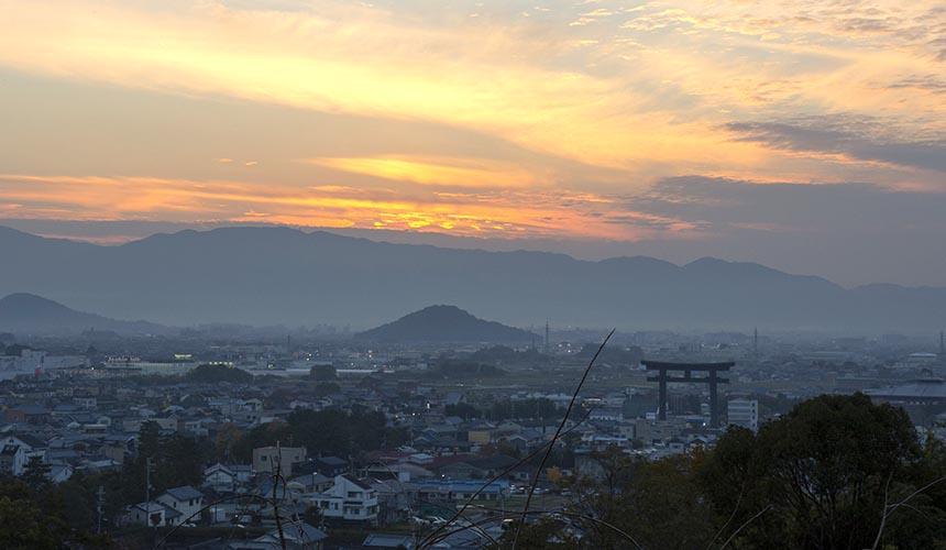 奈良櫻井市大神神社展望台景色