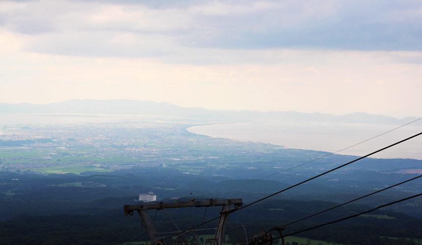 平成租車開車遊!到桝水高原山上,眺望整個日本海一帶的美景