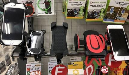 大阪機車部品店「Bike World」日本人也愛買的車用手機架