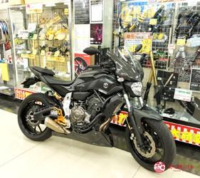 大阪機車部品店「Bike World」店內