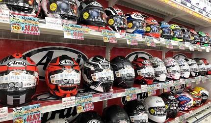 大阪機車部品店「Bike World」Arai的人氣安全帽