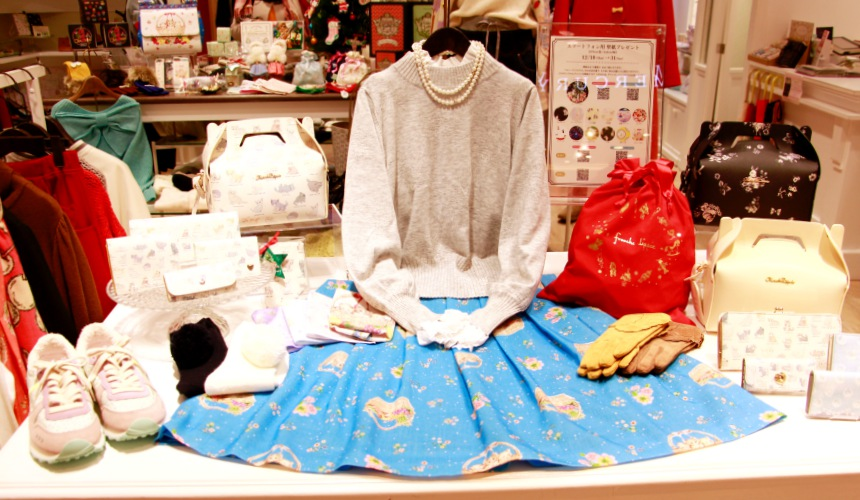 大阪梅田「EST」裡的tranche lippée的服飾