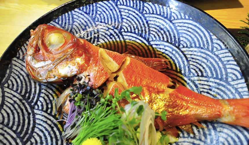 大阪難波心齋橋的人氣名店「蟹しぐれ」的醃煮金目鯛魚(金目鯛の味漬)