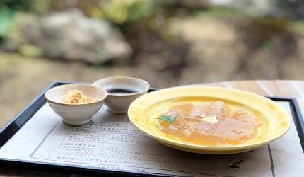 抹茶控必見京都清水寺秘境茶屋普門庵超人氣名物「蕨餅」(清水焼わらび餅)