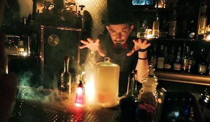 日本京都最受外国人欢迎的魔幻酒吧 L'Escamoteur Bar