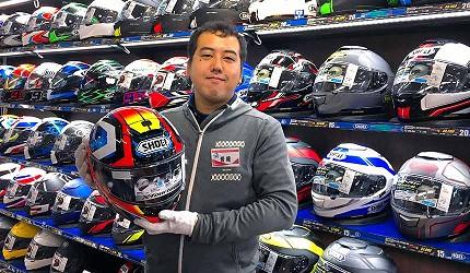 買安全帽就來這!西日本機車配件「RICOLAND CuBe 京都店」英語也能溝通的工作人員