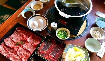 大阪道頓堀「はや・しゃぶ兆」燒肉、涮涮鍋吃到飽昆布、壽喜燒湯底