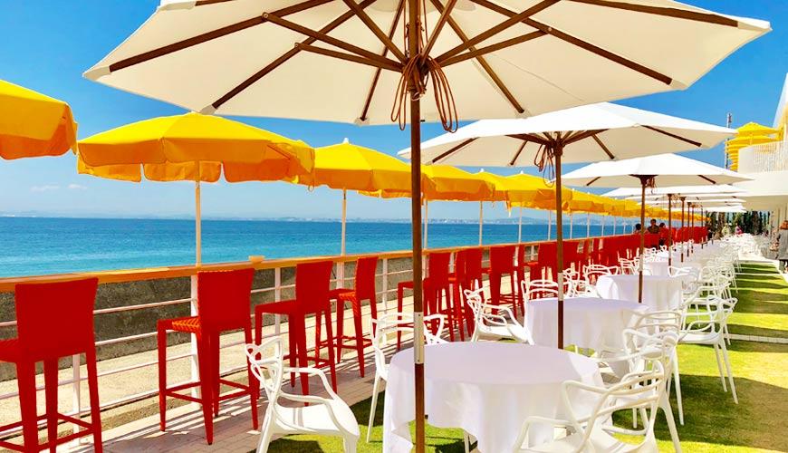 日本兵庫淡路島大型「HELLO KITTY SMILE」海景主題餐廳的自助露天餐廳「SMILE Terrace」