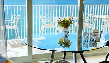 日本兵庫淡路島大型「HELLO KITTY SMILE」海景主題餐廳「Smile Restaurant」的下午茶咖啡館「Party Balcony」店內海景