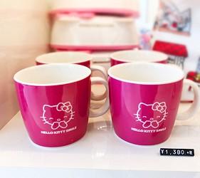 日本兵庫淡路島大型「HELLO KITTY SMILE」海景主題餐廳「Hello Kitty紀念商品店」的馬克杯