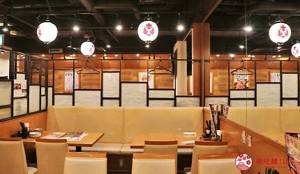 大阪難波道頓堀串燒串炸生魚片店家推薦「三代目 鳥メロ」的店內環境