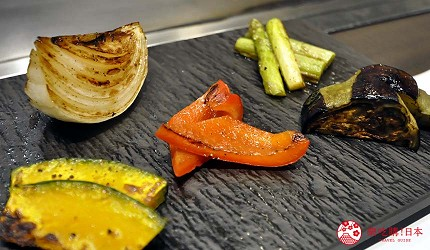 神户三宫名店「彩 SAI-DINING」的季节烤蔬菜(季节の焼野菜)