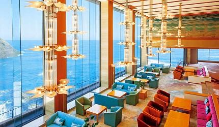 城崎日和山溫泉旅館「金波樓」的迷人海景