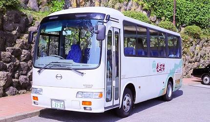 城崎日和山溫泉旅館「金波樓」的迎賓巴士