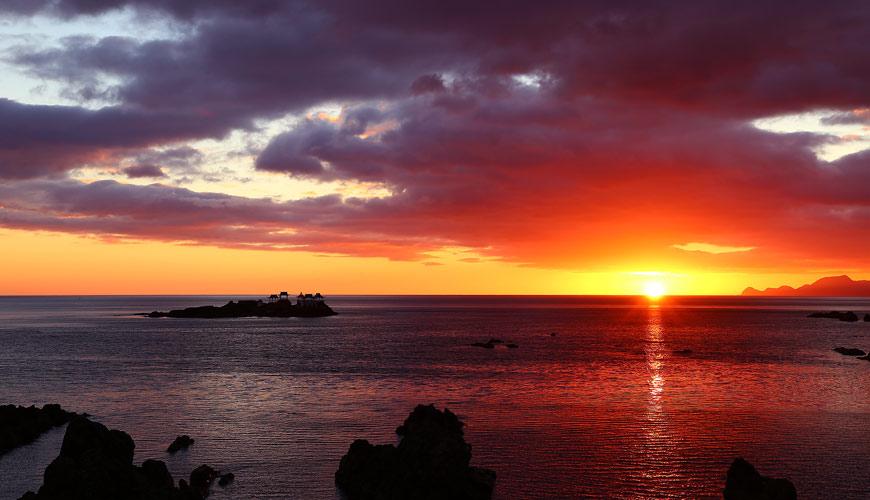 城崎日和山溫泉旅館「金波樓」超美夕陽美景