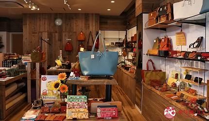 奈良必逛商店街「餅飯殿中心街」的推薦店家「HARUHINO」的原創設計皮件
