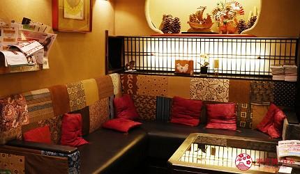奈良必逛商店街「餅飯殿中心街」的推薦百年老舖「魚万」的休息區