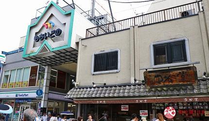 奈良必逛商店街「饼饭殿中心街」的入口