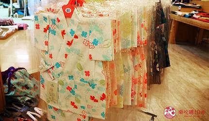 奈良必逛商店街「餅飯殿中心街」的推薦和服店家「夢おり本舗」的小朋友浴衣