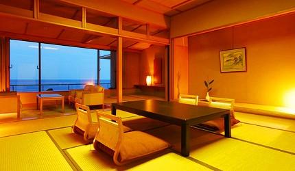 城崎日和山溫泉旅館「金波樓」的岬之館和室