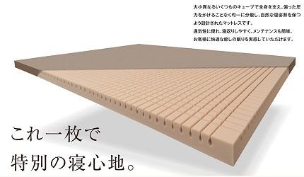 「西川LIVING」原創立方體床墊