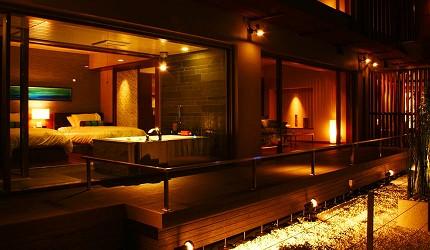 城崎日和山溫泉旅館「金波樓」的「渚之館時じく」套房