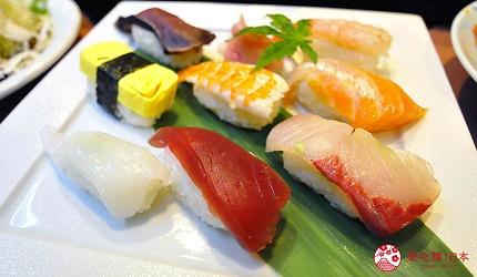 大阪道頓堀燒肉壽司吃到飽「滿腹市場・河豚安」的新鮮壽司