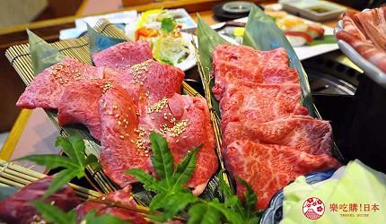 大阪道頓堀燒肉壽司吃到飽「滿腹市場・河豚安」的國產牛燒肉