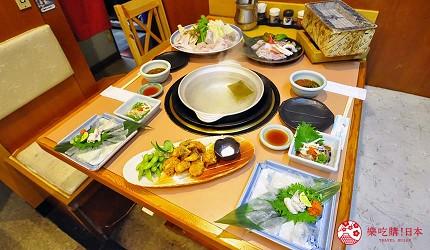 大阪道頓堀燒肉壽司吃到飽「滿腹市場・河豚安」的極味河豚火鍋