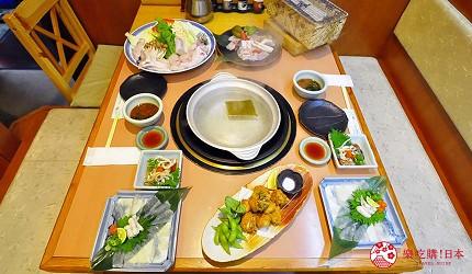 大阪道頓堀燒肉壽司吃到飽「滿腹市場・河豚安」的河豚火鍋料理