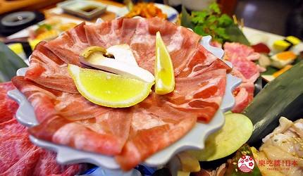 大阪道頓堀燒肉壽司吃到飽「滿腹市場・河豚安」的脆嫩牛舌